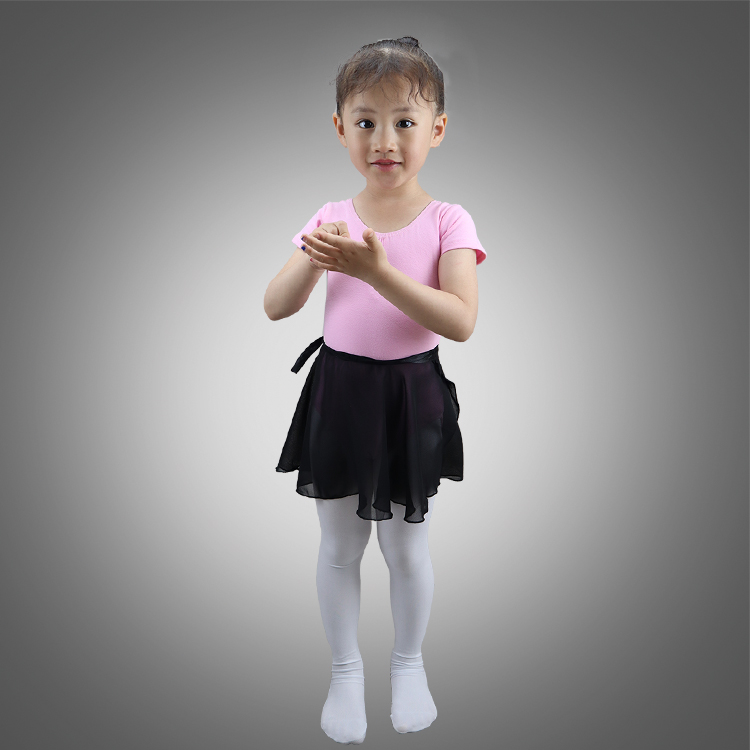Child chiffon wrap dance skirts