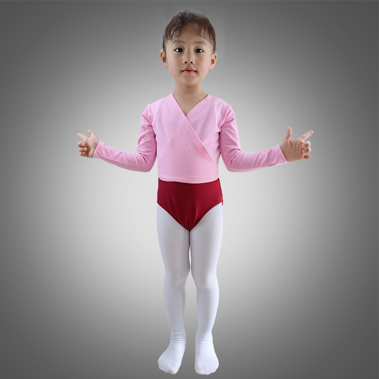 Child Long Sleeve Ballet Dance Wrap Crossover