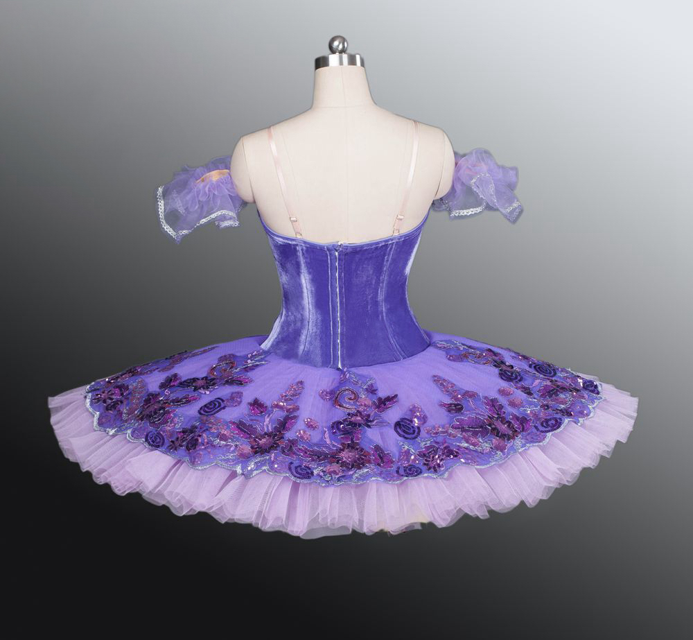 purple tutu ballet dress pancake professional balle